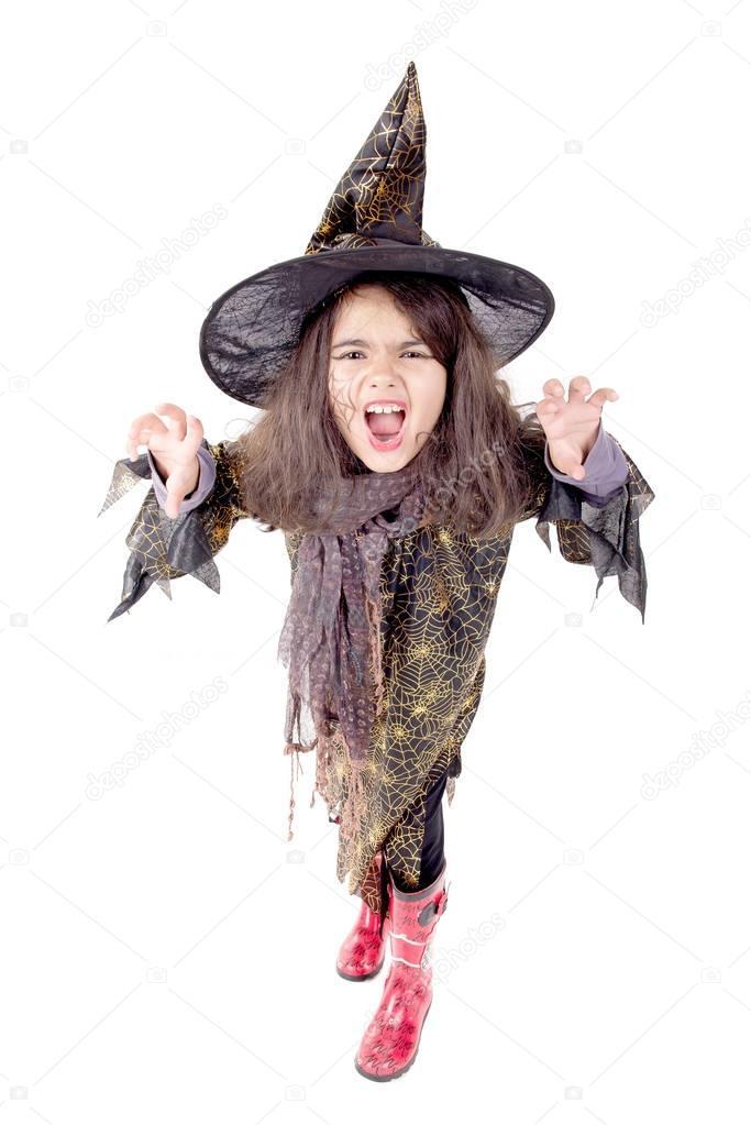 chica de bruja guapa Fotos de Stock verkoka 130374786