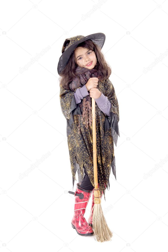 chica de bruja guapa Foto de stock verkoka 130374788