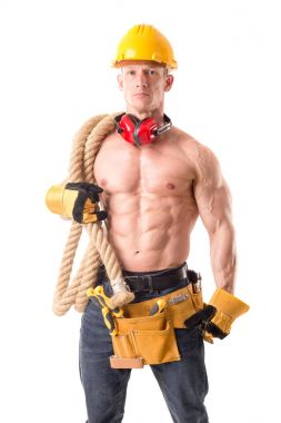 handsome construction worker