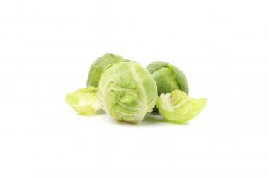 Fresh brussels sprout isolated on white background