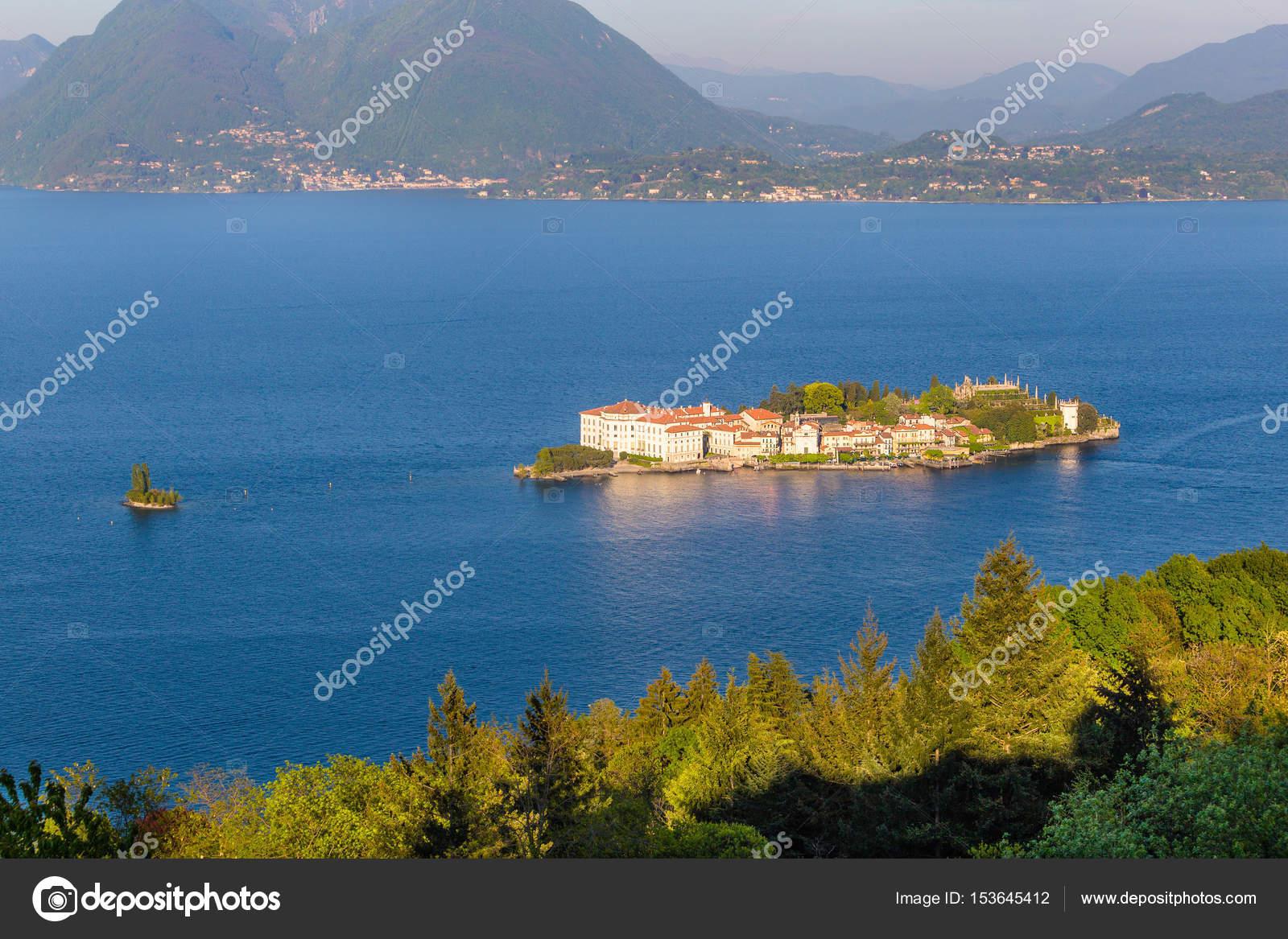 Lake maggiore island bella stresa italy stock photo for Stresa lake maggiore