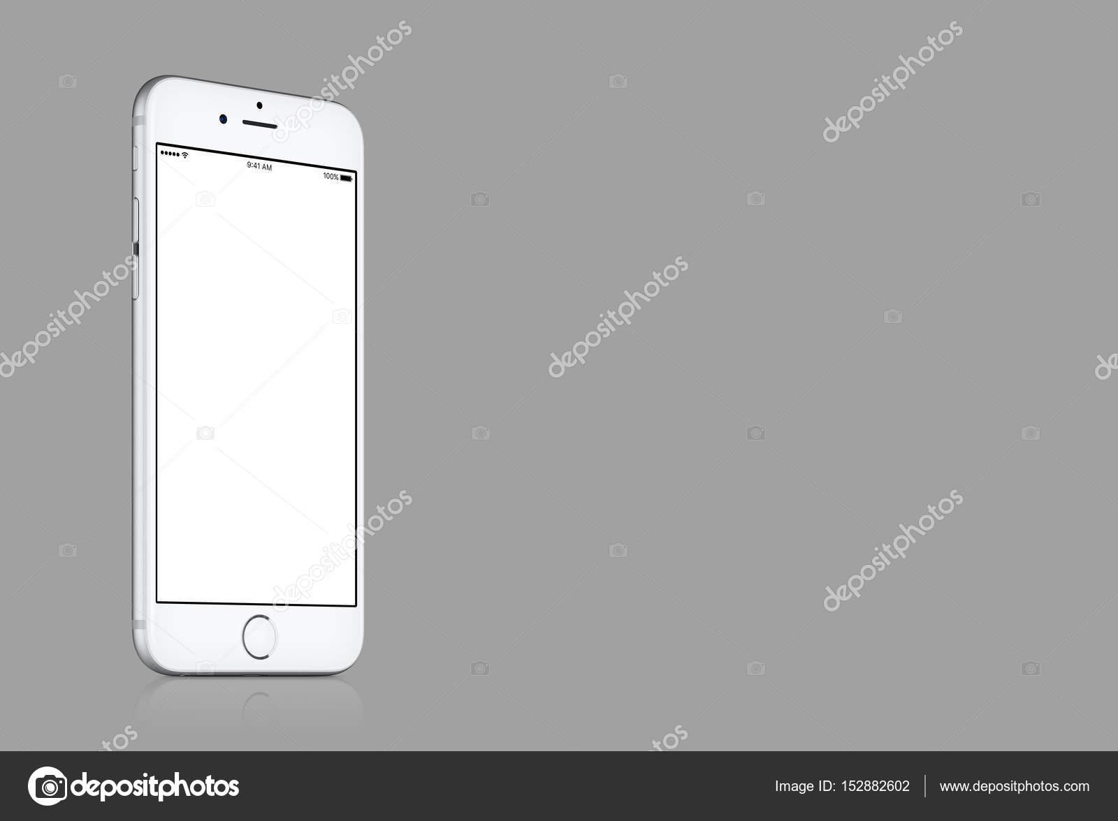 Illustrazione Sfondi Grigi Tinta Unita Mockup Di Iphone 7 Apple
