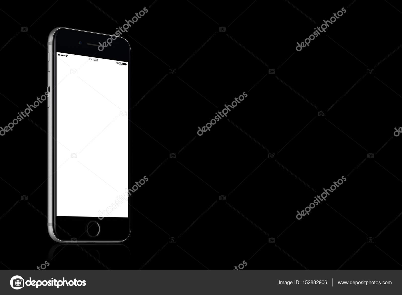 Space Gray Apple iPhone 7 mockup on solid black background