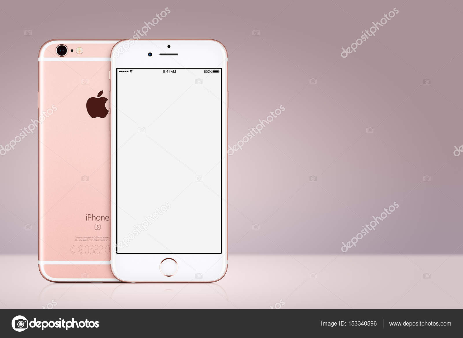 Maquette D Iphone 7 Rose Gold Apple Avant Et Arriere Sur