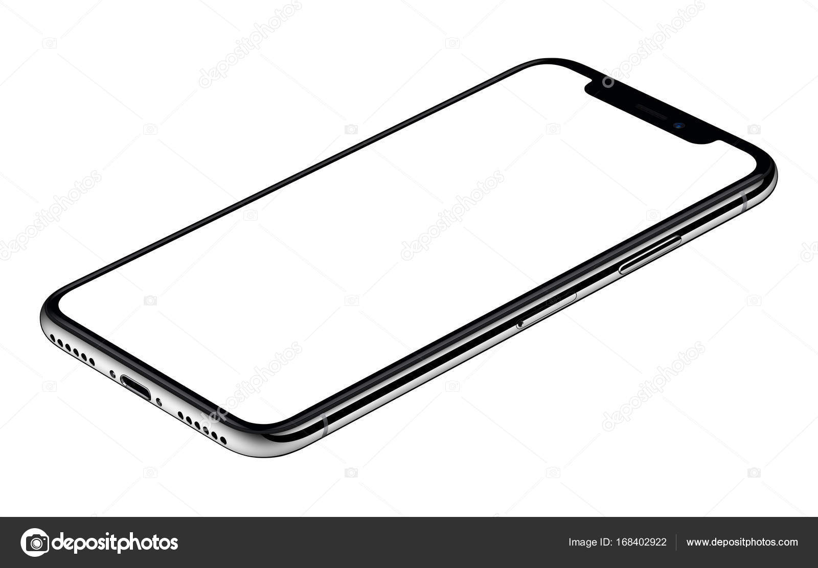 Smartphone Mockup Similar To Iphone X Cw Rotated Lies On Surface