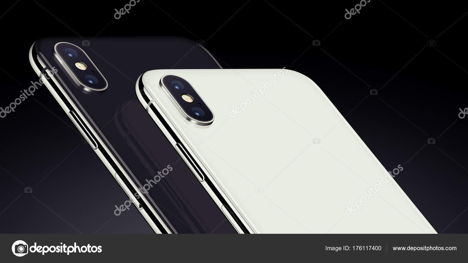 Close Up Black And White Isometric Smartphones Similar To