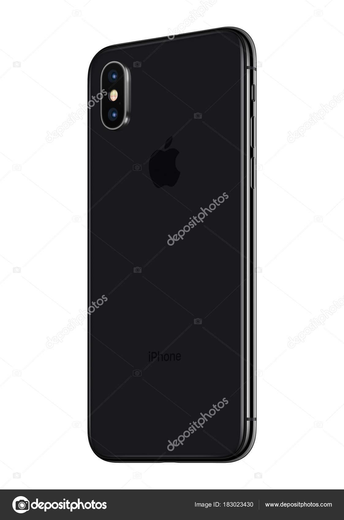 Espace Gris Apple Iphone X Arriere Legerement Pivote Isole Sur Fond