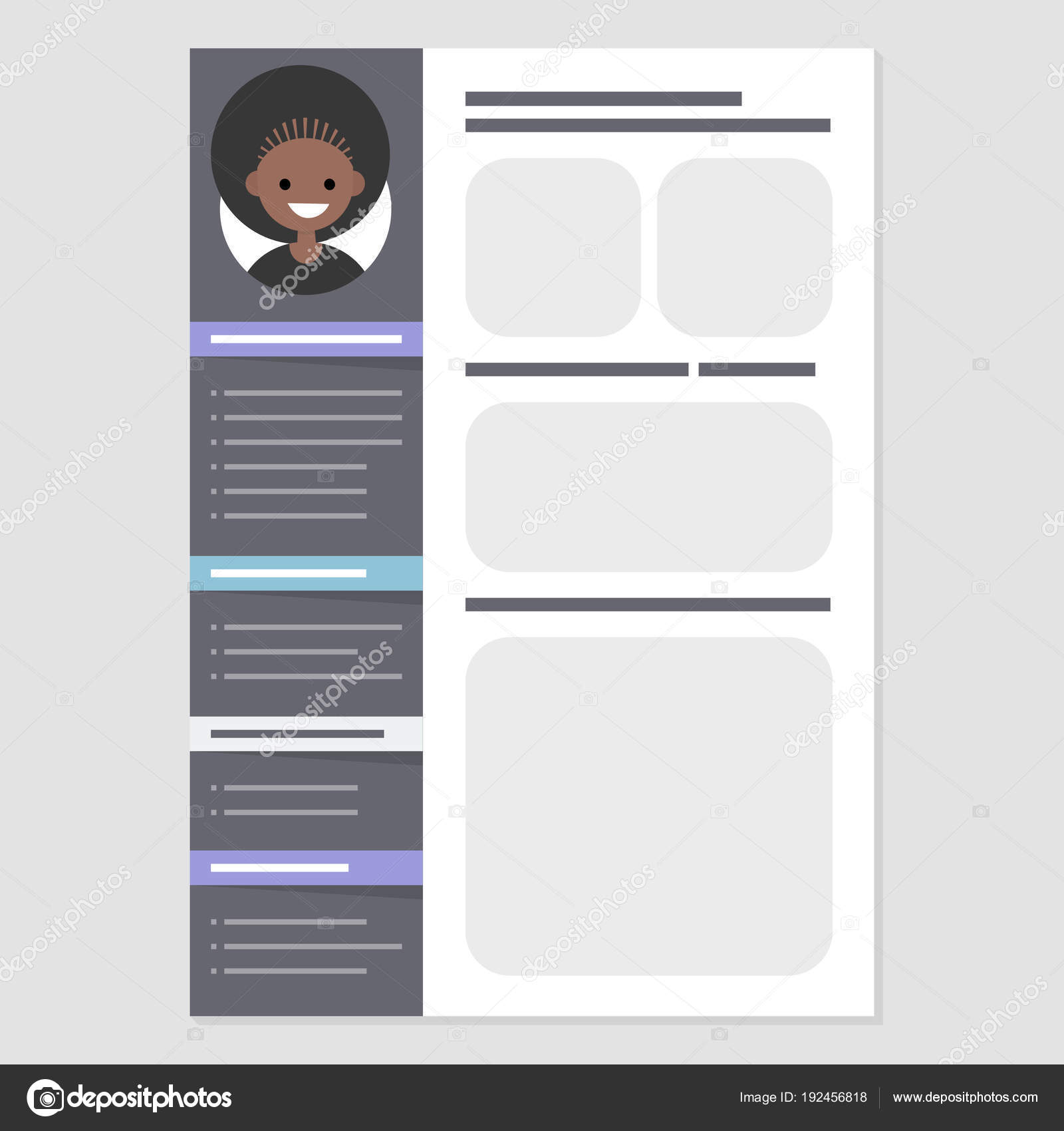 Looking for a job. CV template. Biography. Personal information ...