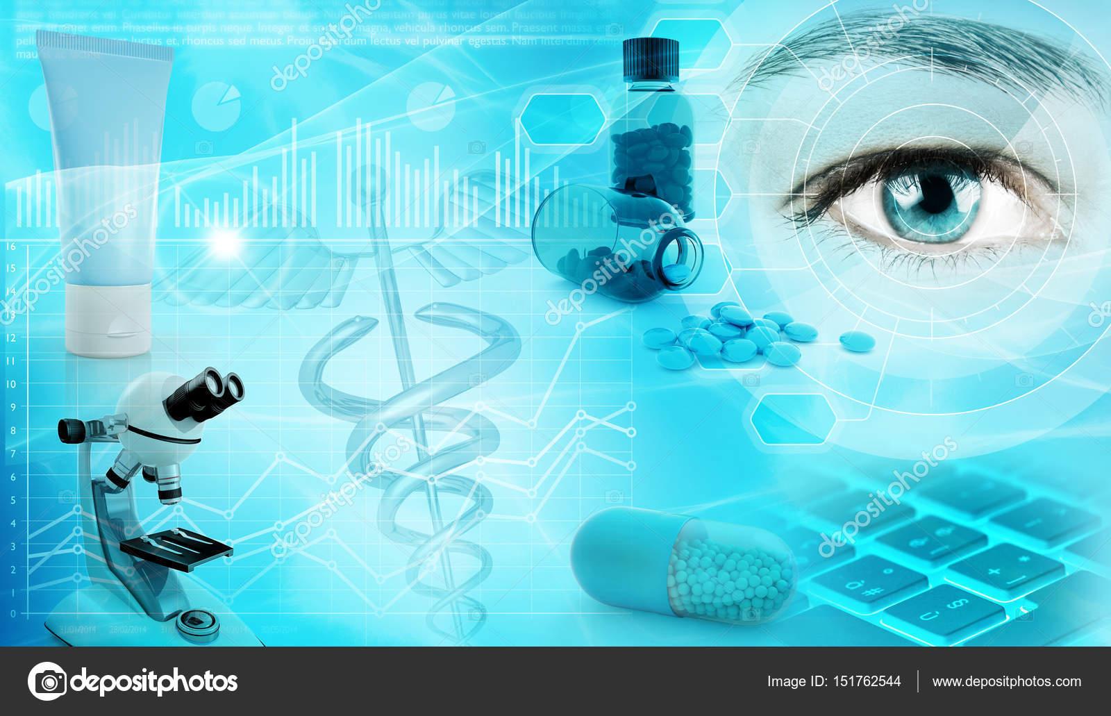 Фармацевтична промисловість абстрактне поняття фон 3d