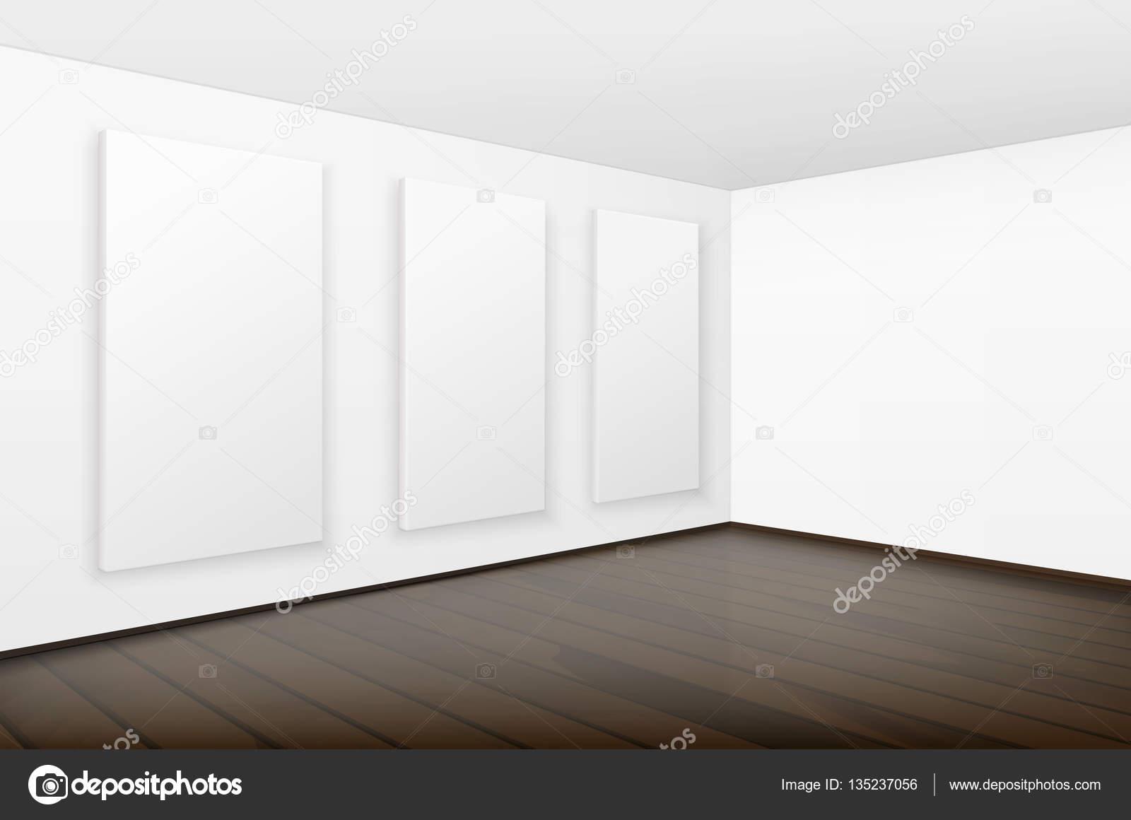 Vector fotos carteles blanco en blanco vacío marcos de paredes con ...