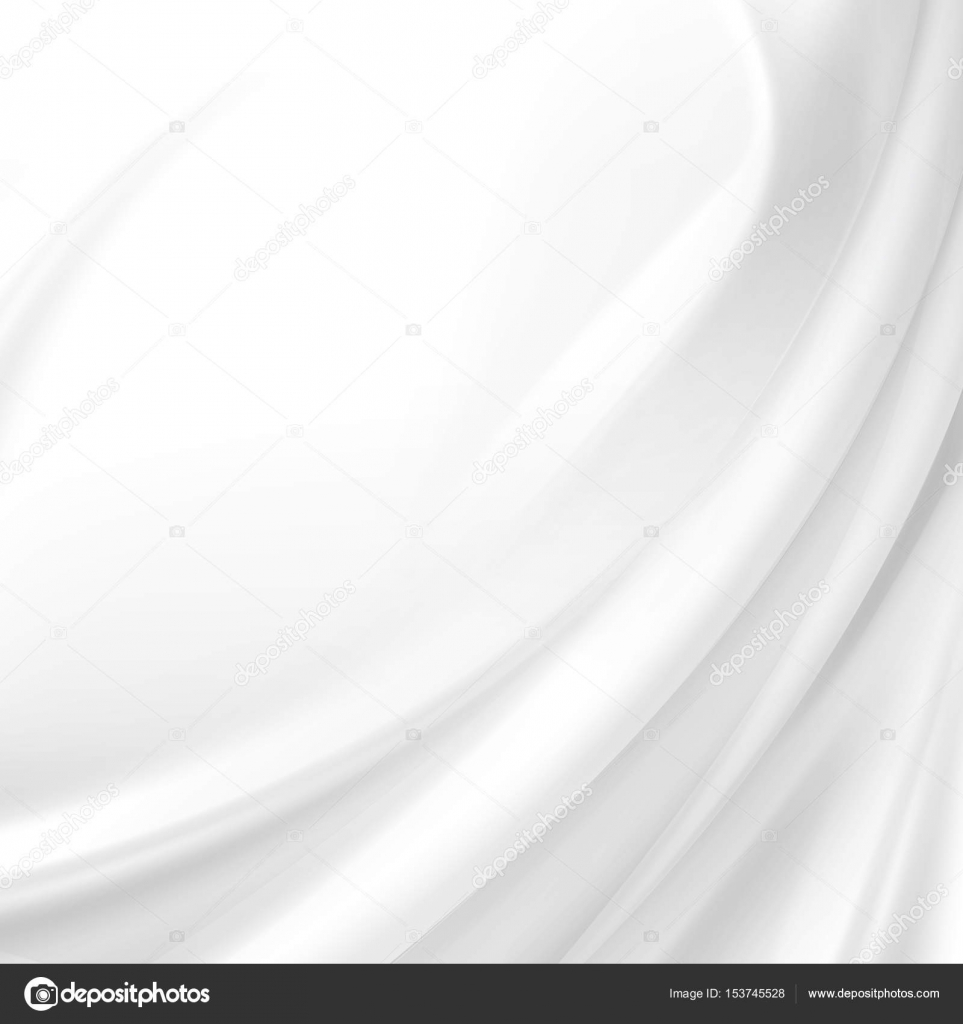 White Satin Silky Cloth Fabric Textile Drape With Crease Wavy Folds Abstract Background Stock
