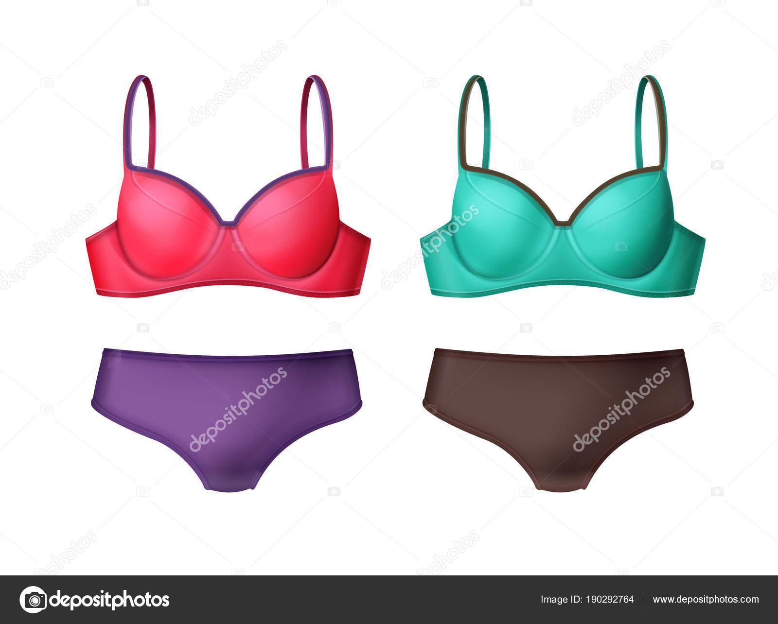a621b6ffcd61 Mujer dos piezas traje de baño — Archivo Imágenes Vectoriales ...