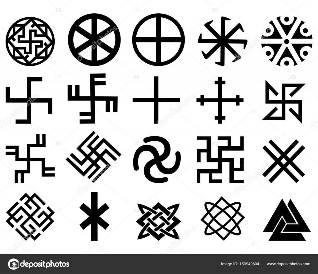 different slavic symbols stock vector mayboro1964. Black Bedroom Furniture Sets. Home Design Ideas