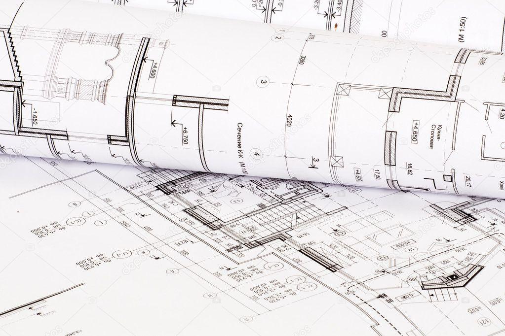 La Conception Architecturale De La Maison Sur Papier Photographie