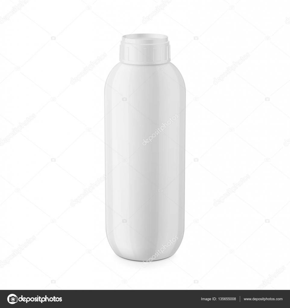 Weiße glänzende Kunststoff Shampoo Flasche Vorlage — Stockvektor ...