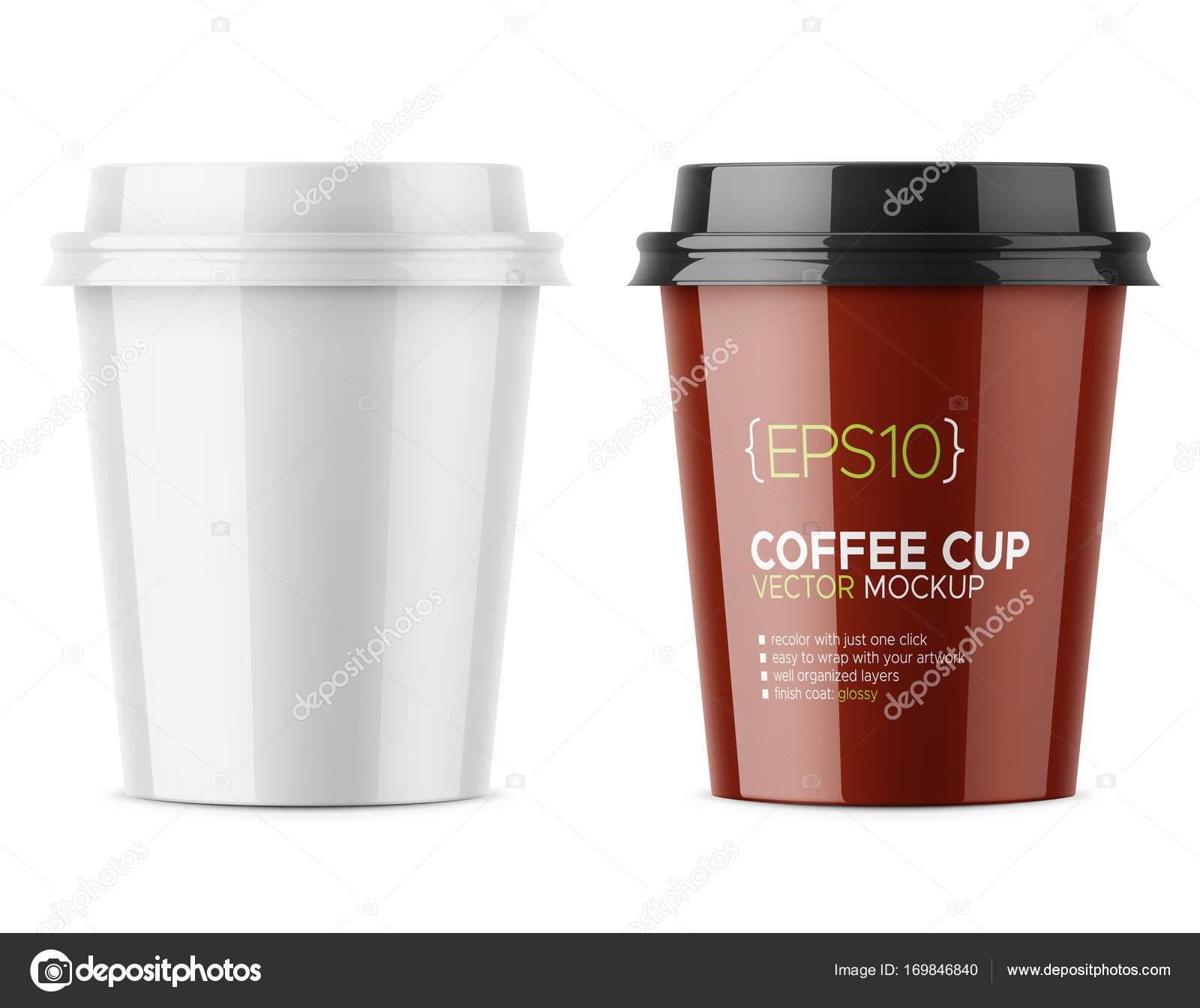 Glänzende Milchkaffee Tasse Vorlage — Stockvektor © gruffi #169846840