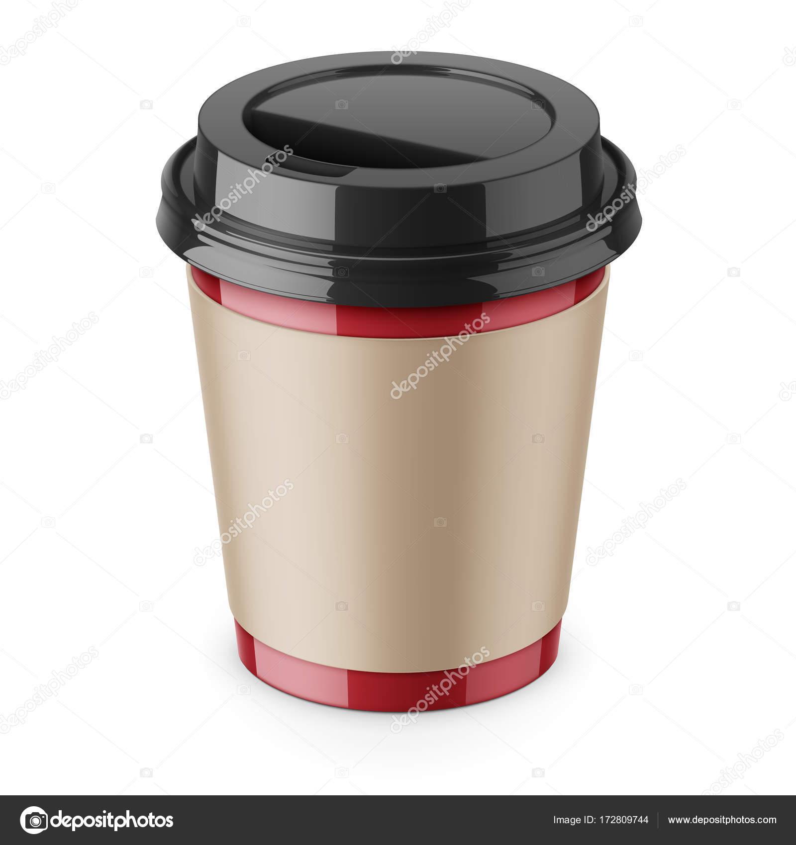 Einweg-Kaffee Pappbecher mit Deckel und Ärmel — Stockvektor © gruffi ...