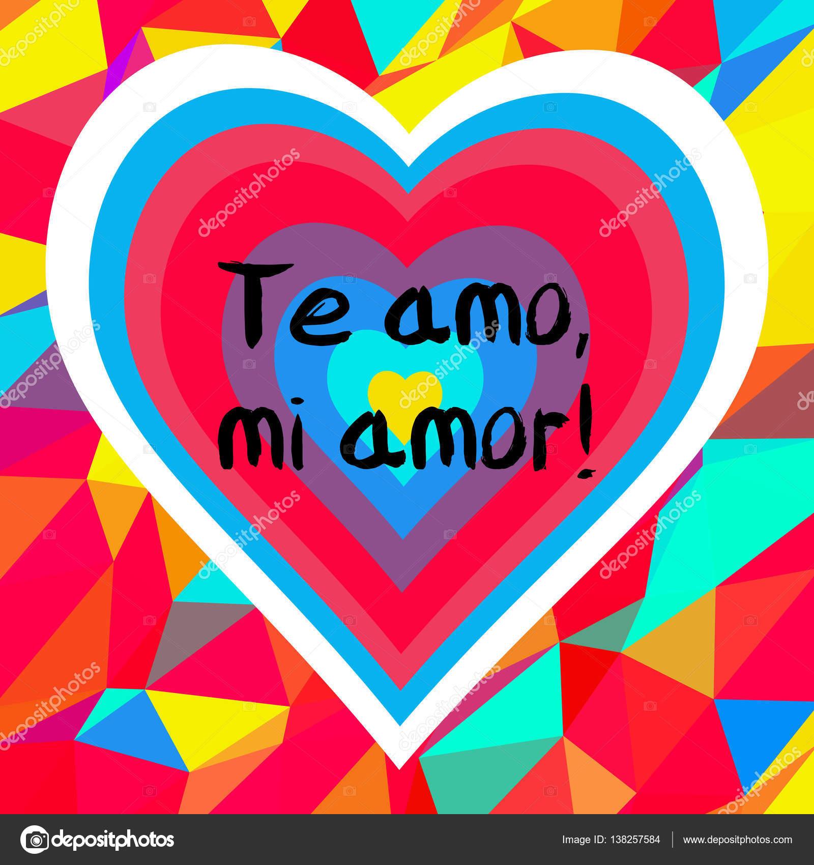 Frase Eu Te Amo Meu Amor Vetor De Stock Albisoima 138257584