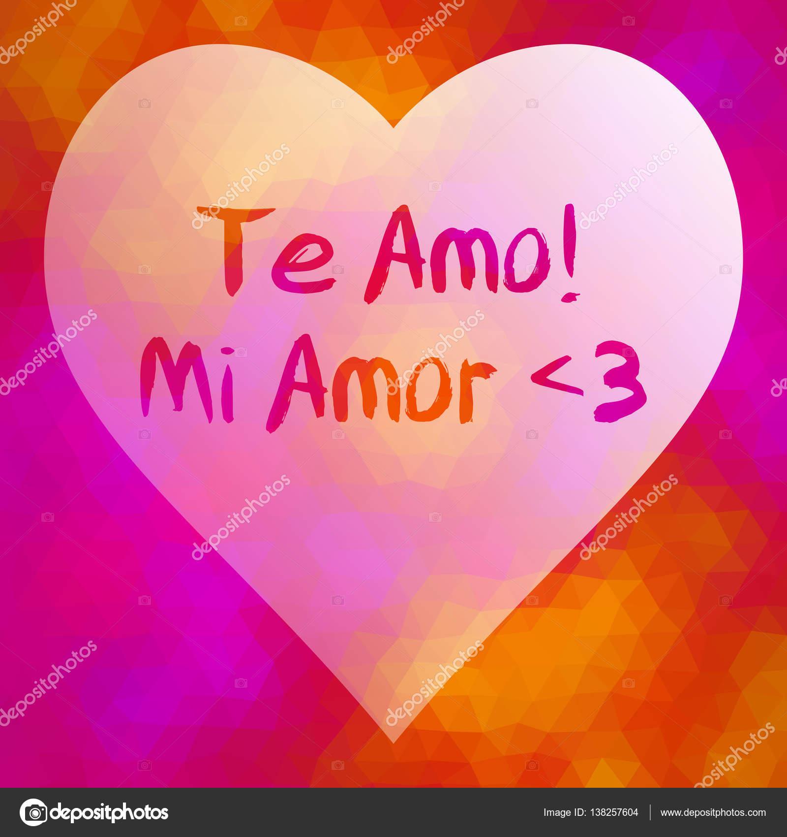 Foto Teamo Mi Amor Frase Te Amo Mi Amor Vector De Stock