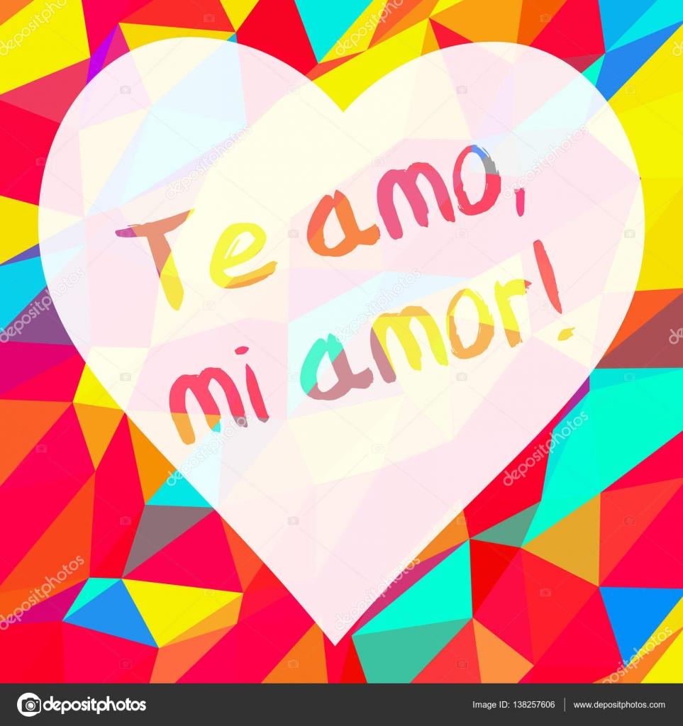 Frase Eu Te Amo Meu Amor Vetores De Stock Albisoima 138257606