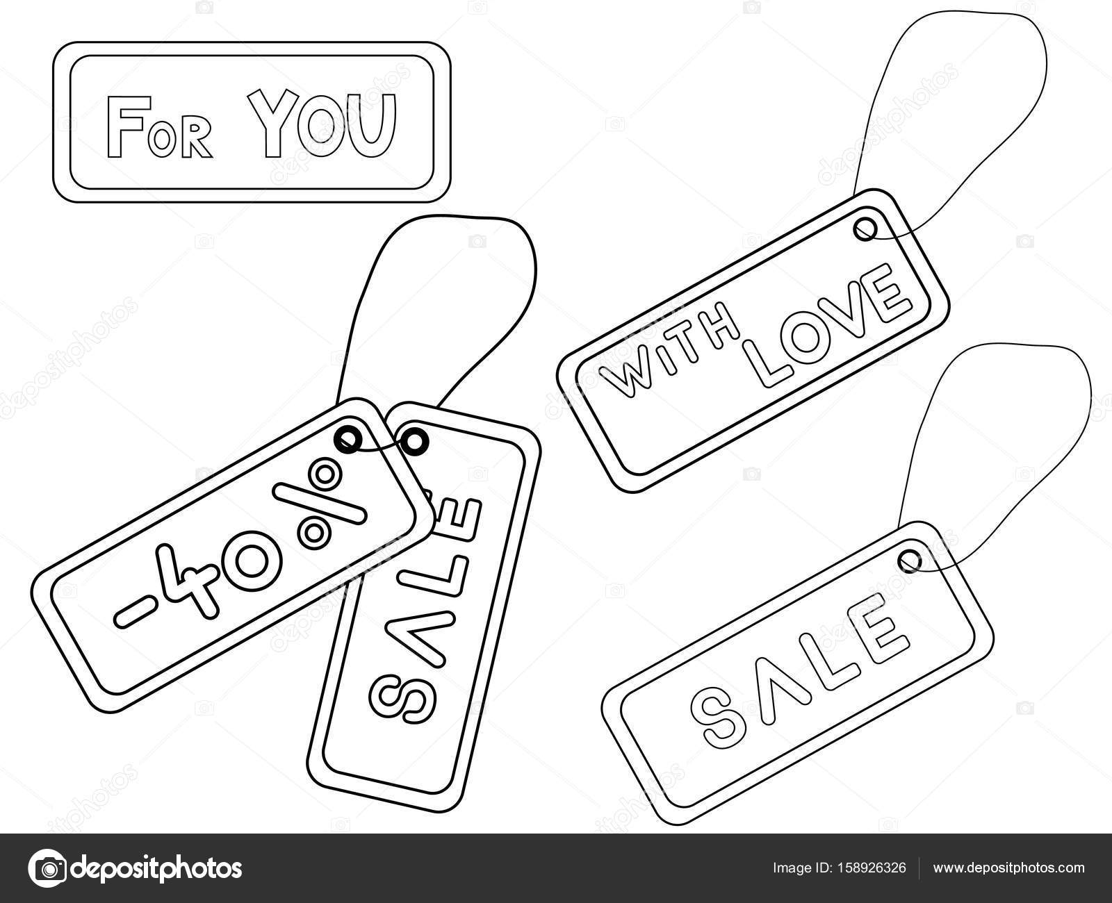 Coloring book with discount tag — Stock Vector © Albisoima #158926326