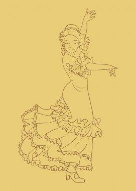 Flamenco dance - traditional spanish dance