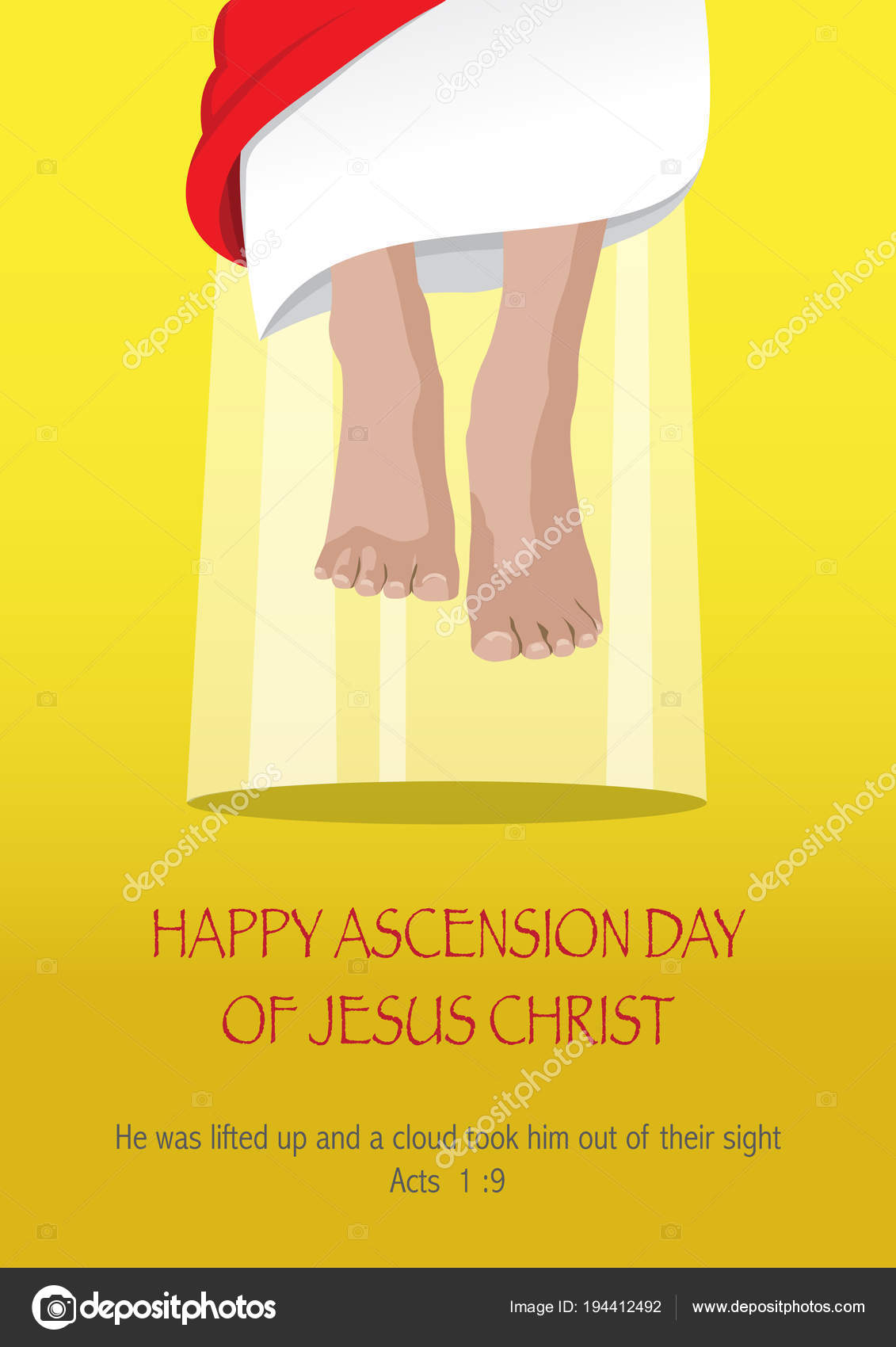 Photos Ascension Day Ascension Day Of Jesus Christ Stock Vector