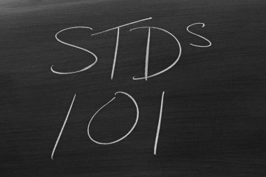 STDs 101 On A Blackboard