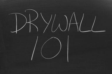 Drywall 101 On A Blackboard