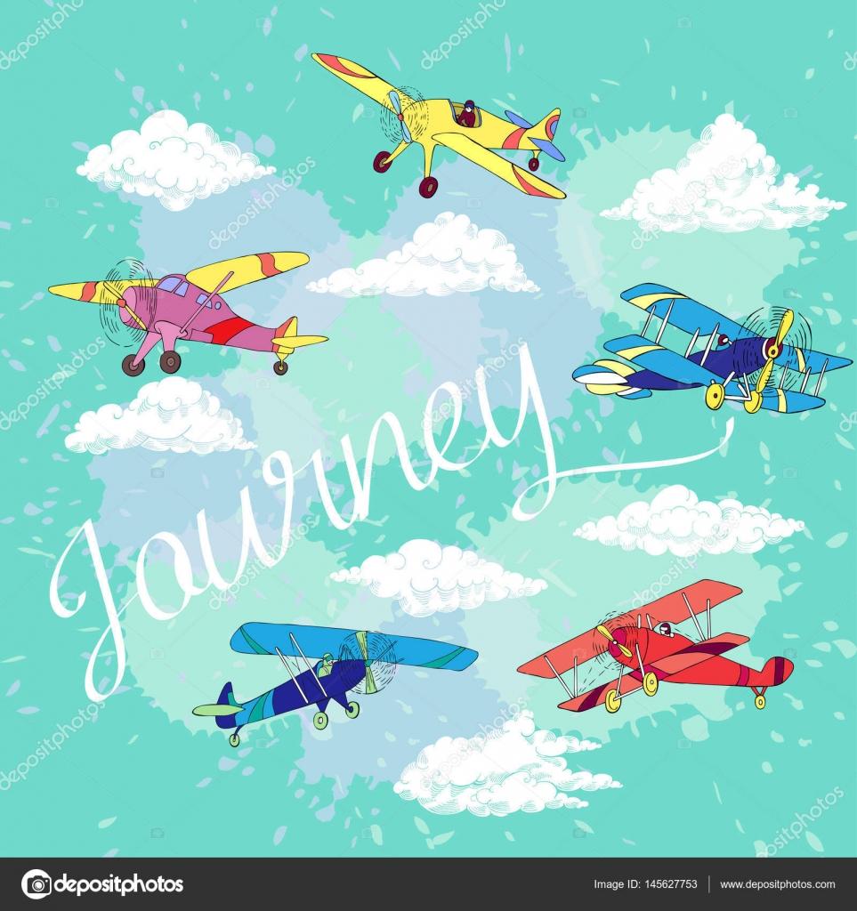 Fondo con colores aviones — Archivo Imágenes Vectoriales © piyasheva ...