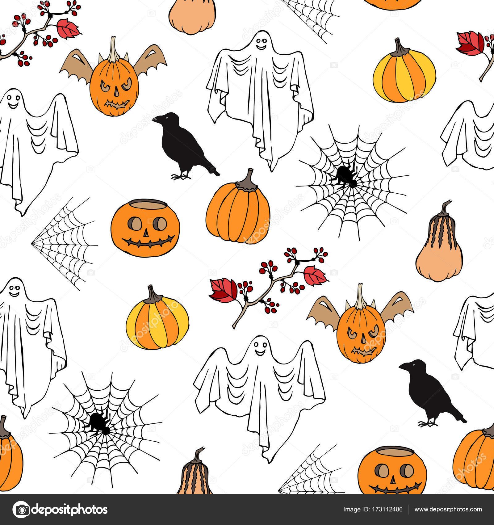 patrón sin costuras Halloween — Archivo Imágenes Vectoriales ...