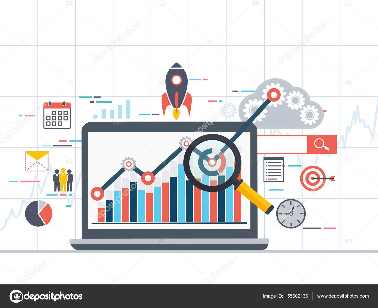 Web Analytics Informationen und Entwicklung Statistik. Modernes ...
