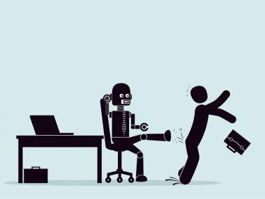 Evolution of robots, struggle for a place at work.