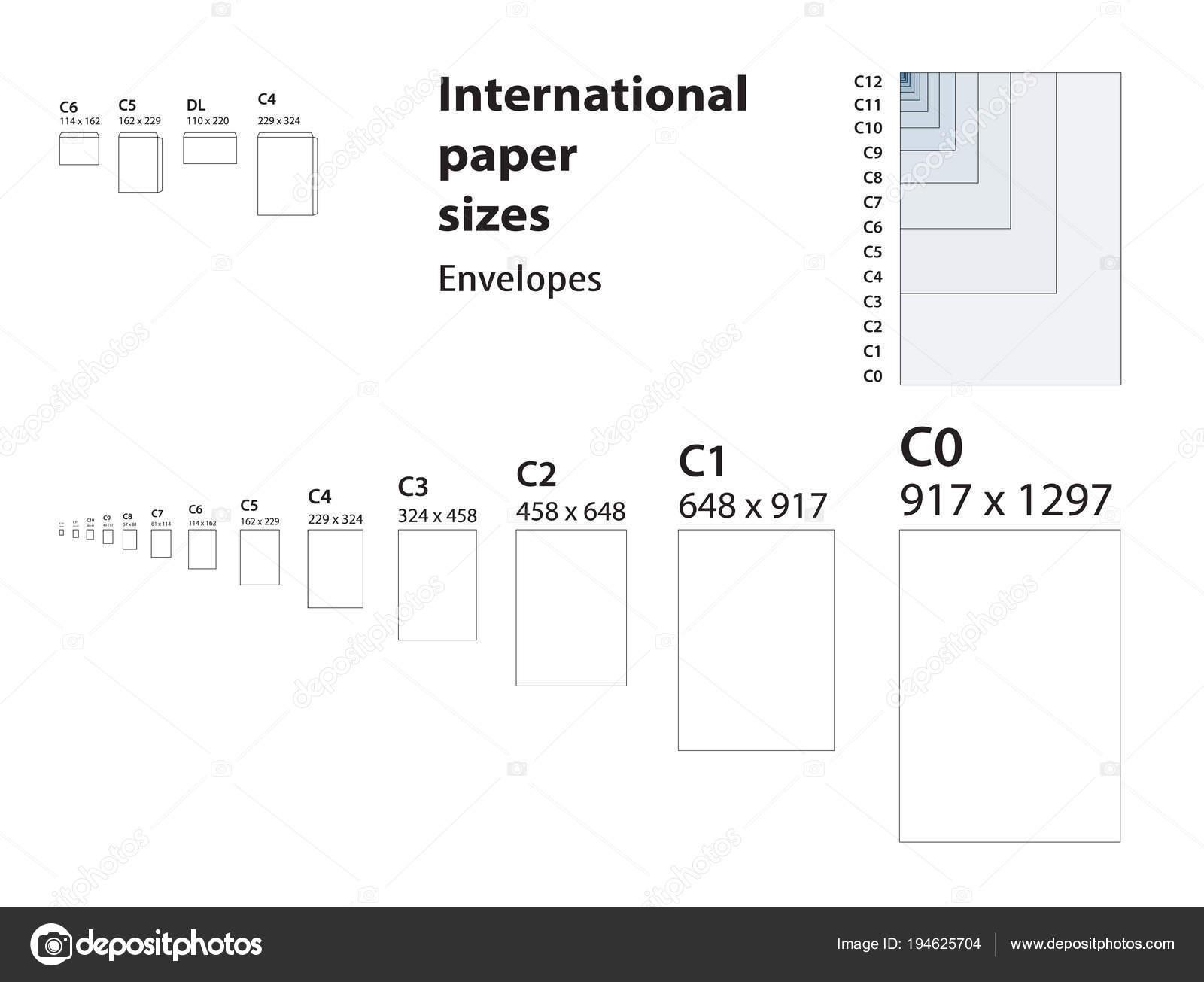 Fotos Tamaños Estandar De Estándar Internacional De Tamaños De