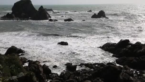 Skalnaté pobřeží Tasmanova moře.