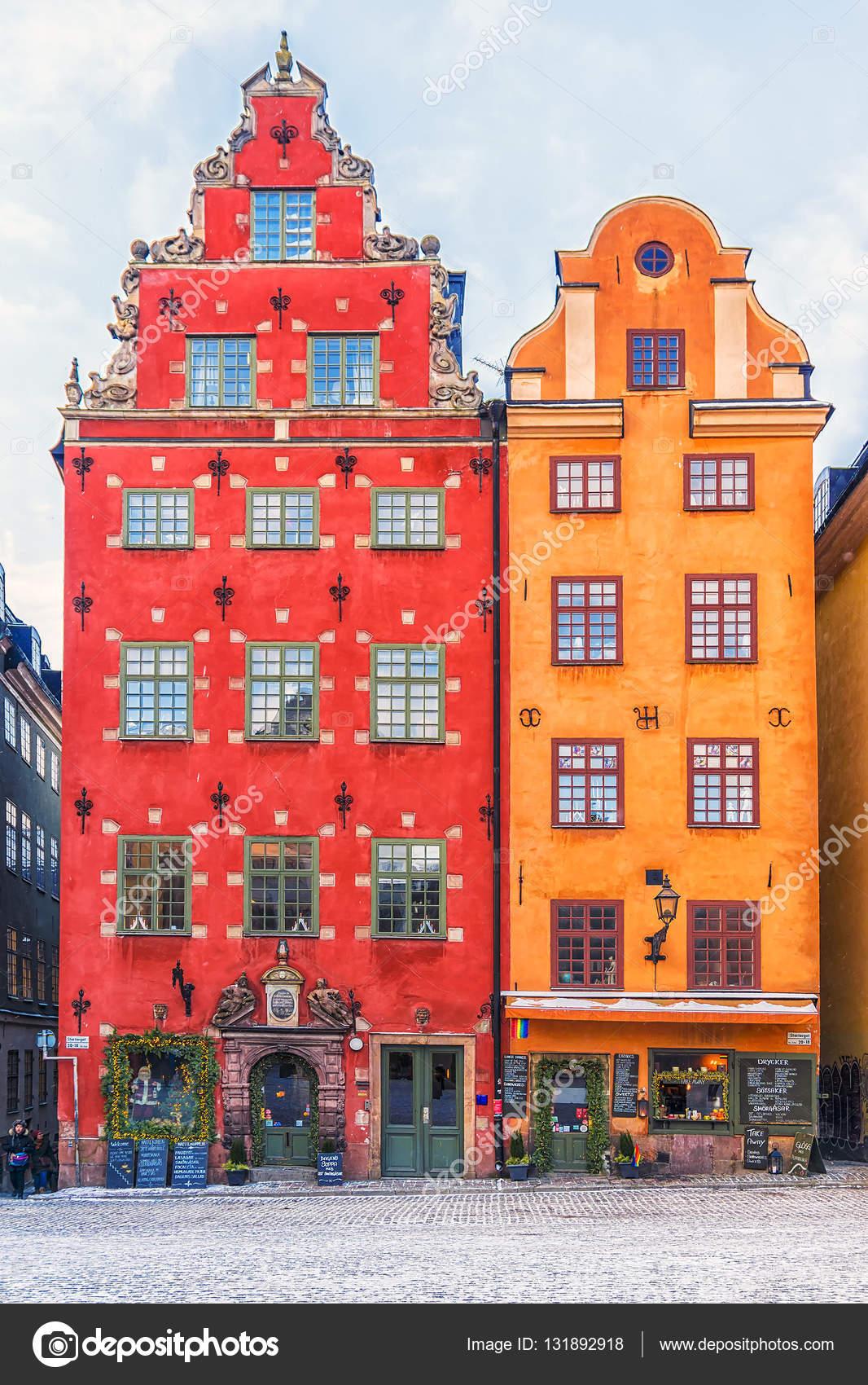 Gevels van de huizen in de binnenstad stockholm zweden stockfoto deb 37 131892918 - Gevels van hedendaagse huizen ...