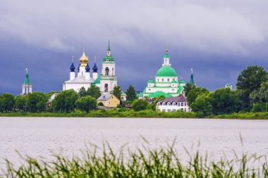 Spaso-Yakovlevsky Monastery in Rostov. View from Lake Nero