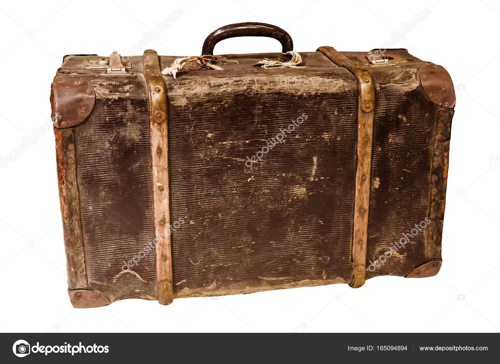 Ongekend Alten Retro-Koffer auf weißem Hintergrund — Stockfoto © deb-37 BF-14