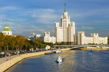 House on Kotelnicheskaya Embankment in Moscow. One of Stalin's s