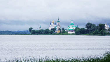 Spaso-Yakovlevsky Dimitriev Monastery in Rostov the Great. Gold