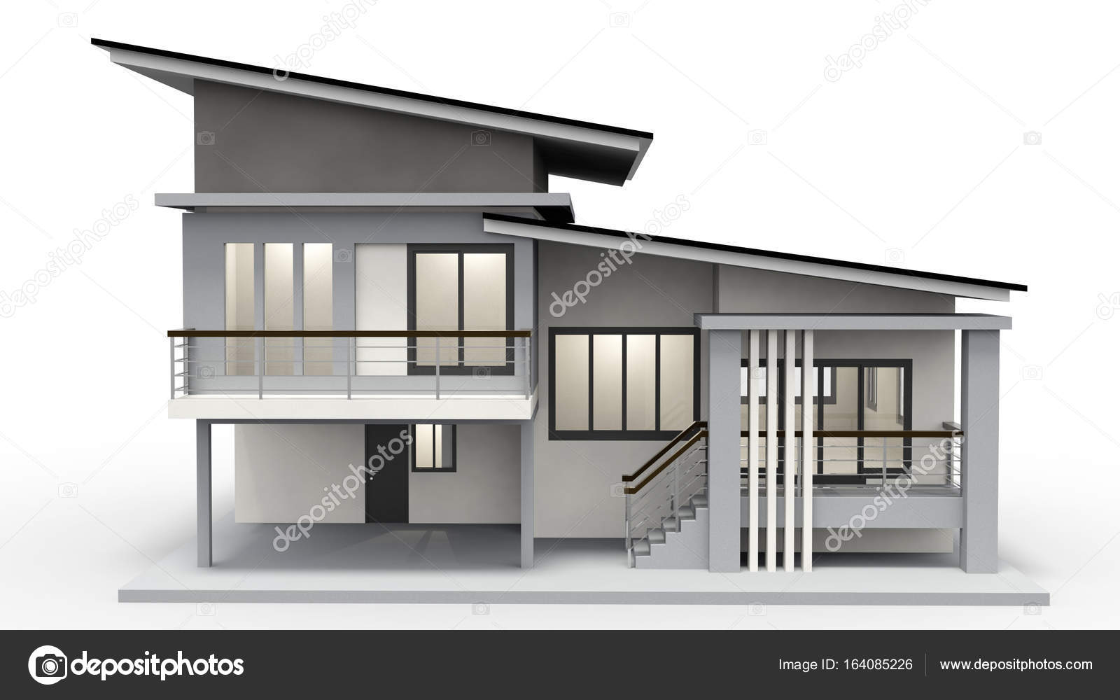 Modern house 2nd floor photo by