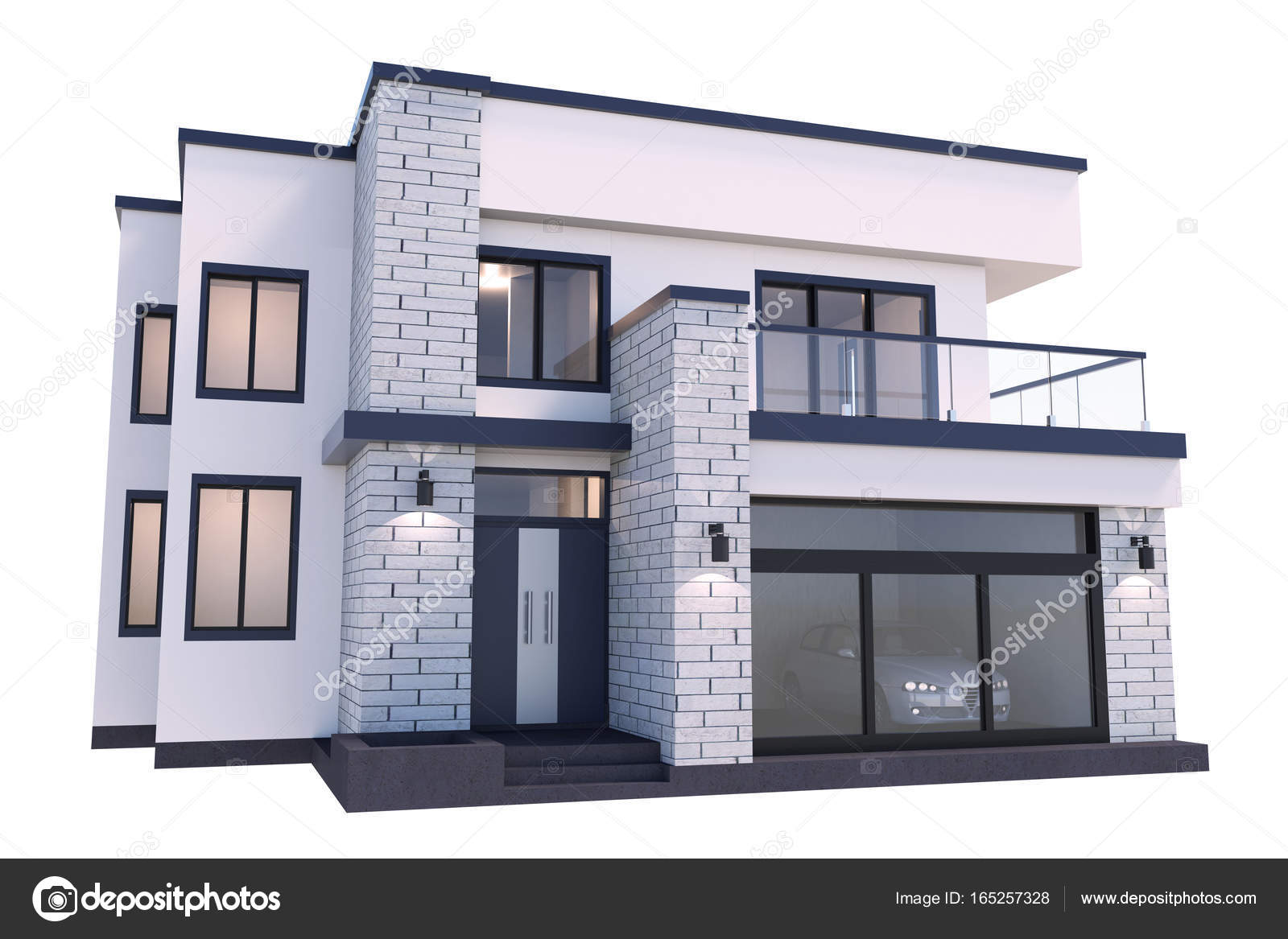 3d rendering luxury modern house — Stock Photo © Mr3d #165257328