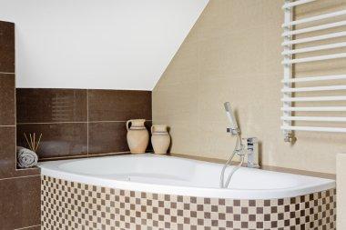 Mosaic tile bathtub idea