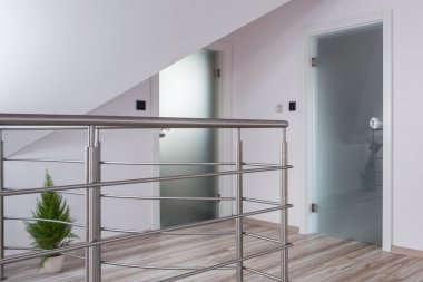 Chromed railing in new mansion