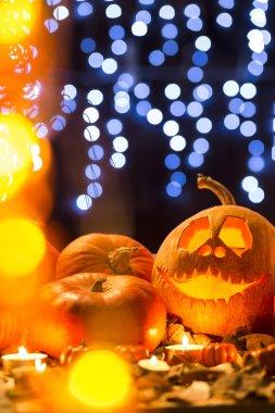 Pumpkin and lights