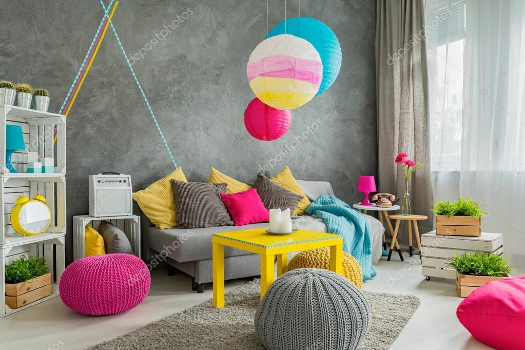 Arredamento Moderno Colorato.Idea Di Arredamento Colorato Foto Stock C Photographee Eu