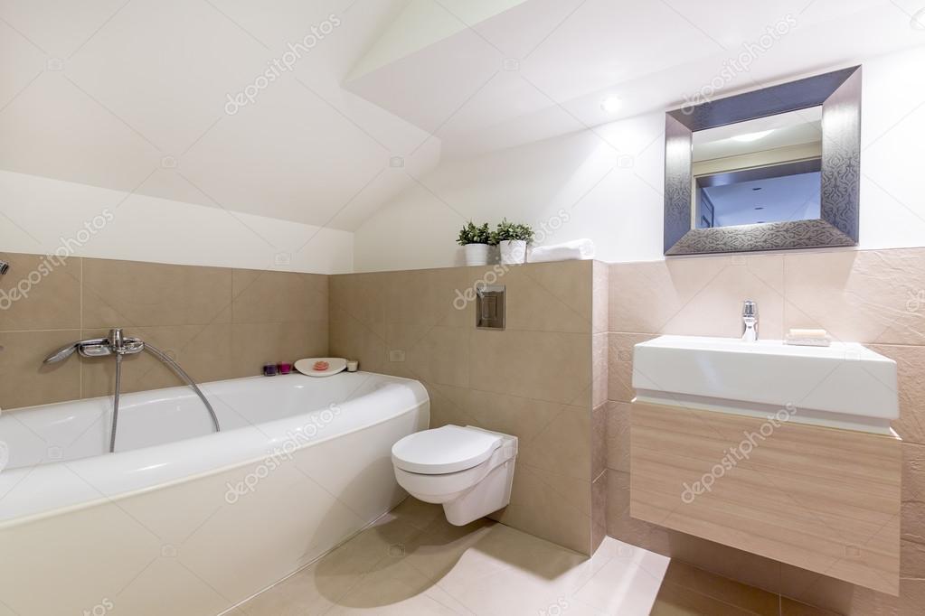 beige badkamer interieur — Stockfoto © photographee.eu #125874576