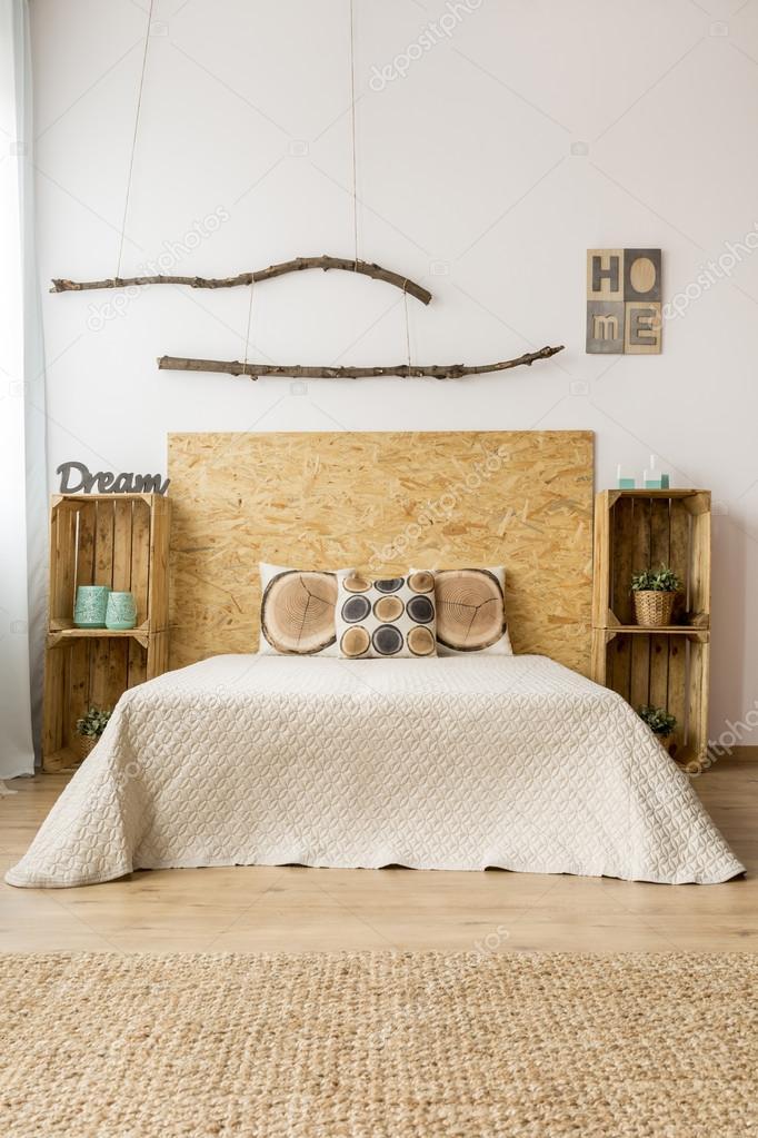 Idea di arredamento camera da letto autunno — Foto Stock ...