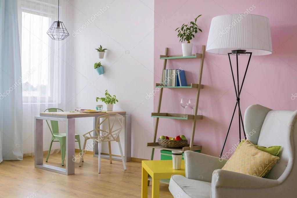Roze en witte huis interieur idee u stockfoto photographee eu