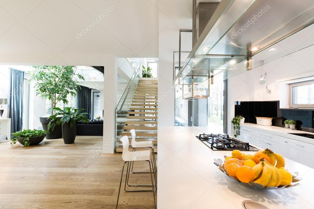 interior design kitchens cozinha de plano aberto e sala de estar stock photo 12639